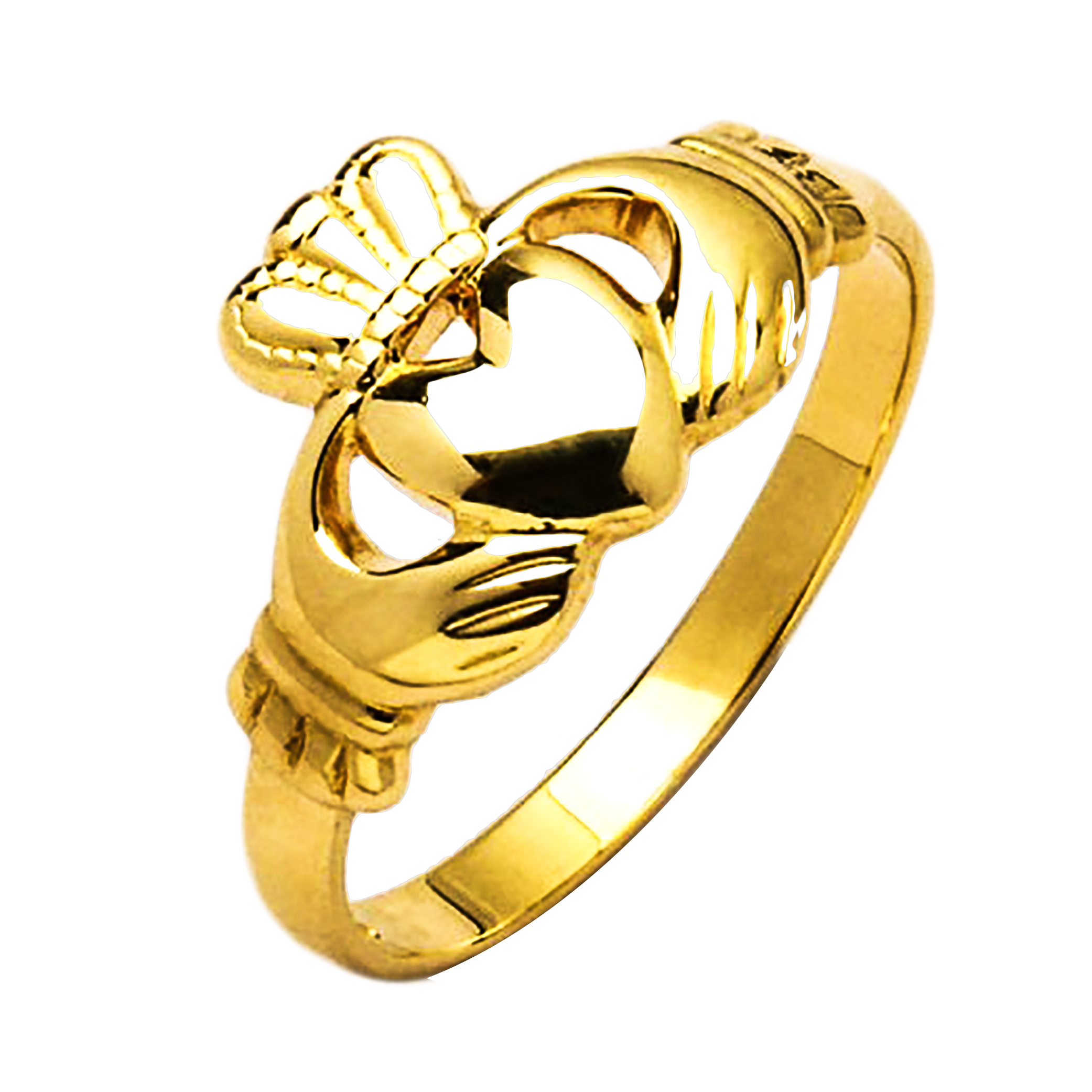 gold claddagh ring iona 10k gold