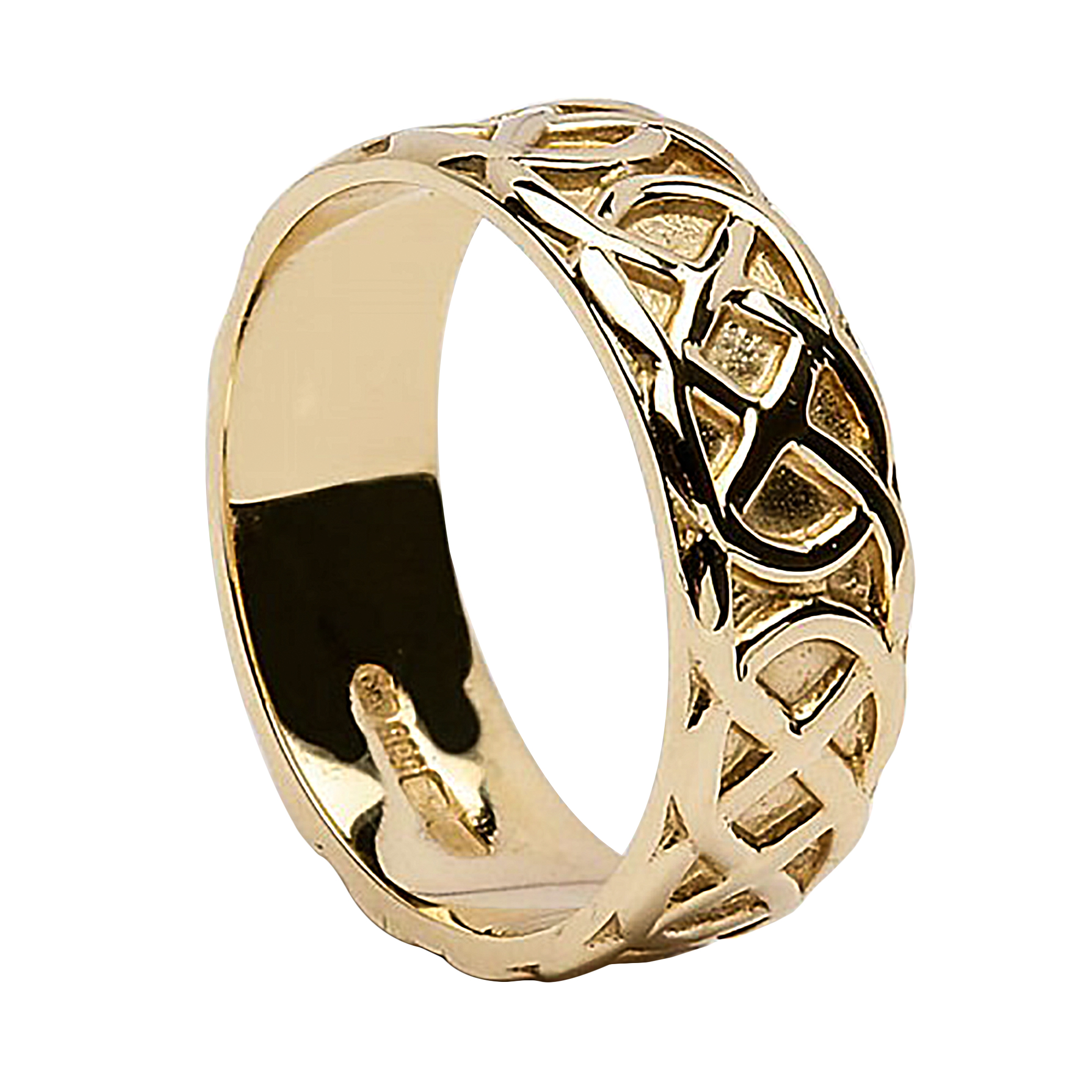 wedding ring celtic knots 18k gold