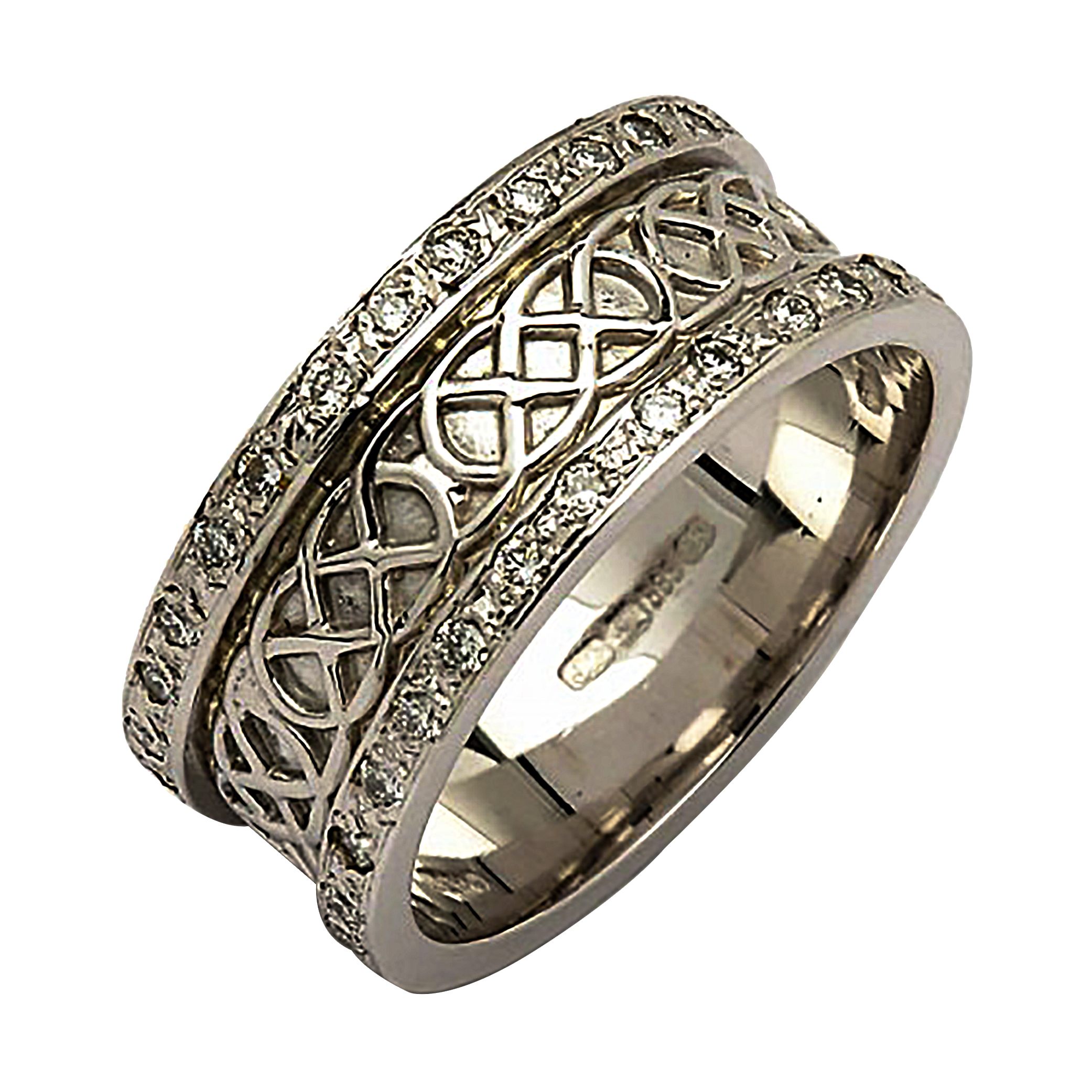 tdw diamond sterling silver ring infinity knot shipping free today cambridge watches jewelry overstock product love