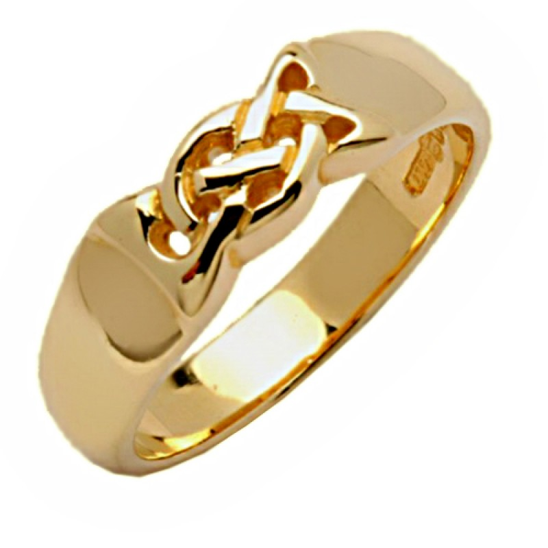 Celtic Knot Ring - 14K Gold