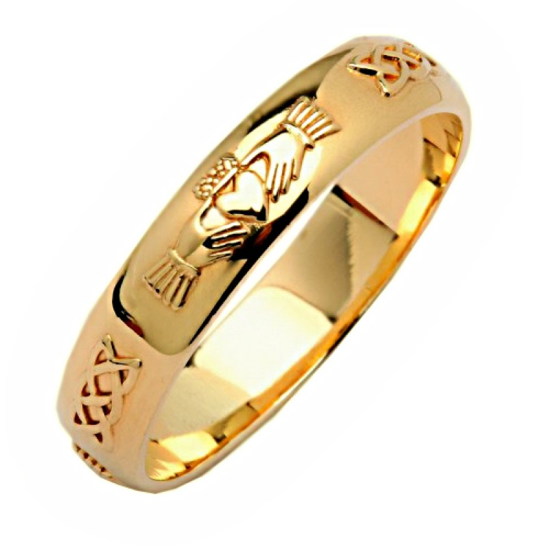 band karat s bands gold mens yellow women and itm wedding solid ring men plain womens
