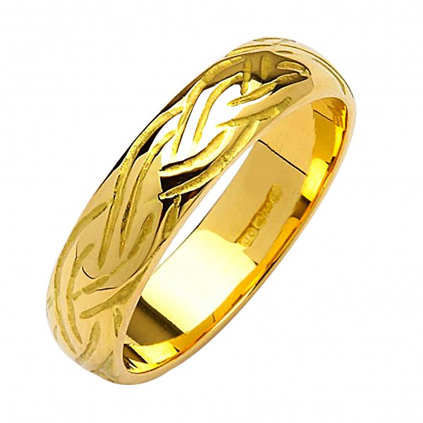 Irish Gold Wedding Ring - Livia - 18K Gold Celtic Wedding Rings