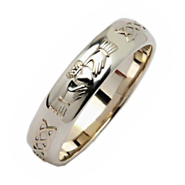 Platinum Wedding Ring - Claddagh Corrib Celtic Wedding Rings