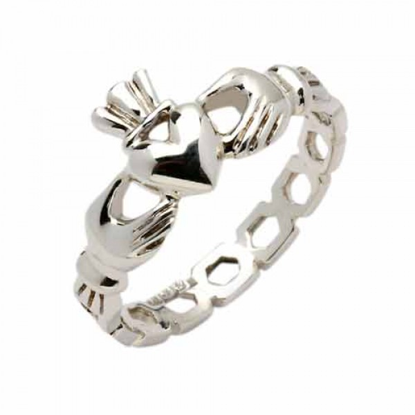 Silver Claddagh Ring - Mask Claddagh Rings