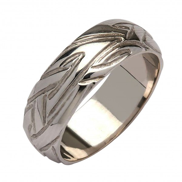 White Gold Wedding Ring - Livia - 18K Gold Celtic Wedding Rings