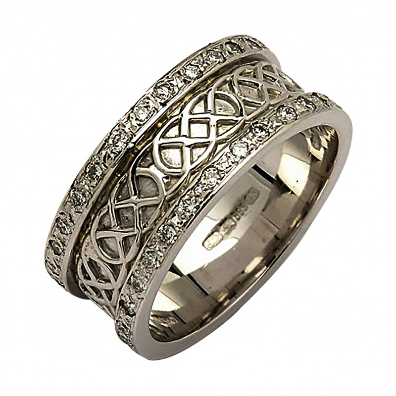 white gold celtic knot ring 14k gold