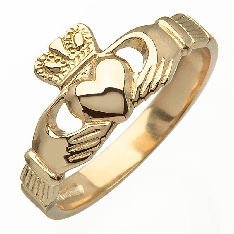 gold claddagh ring blarney 14k gold