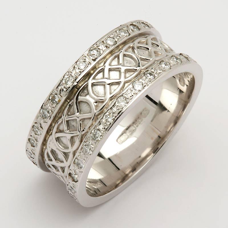 white gold celtic knot ring 14k gold