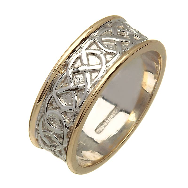 new irish two tone wedding ring celtic knots celtic wedding rings - Celtic Wedding Ring
