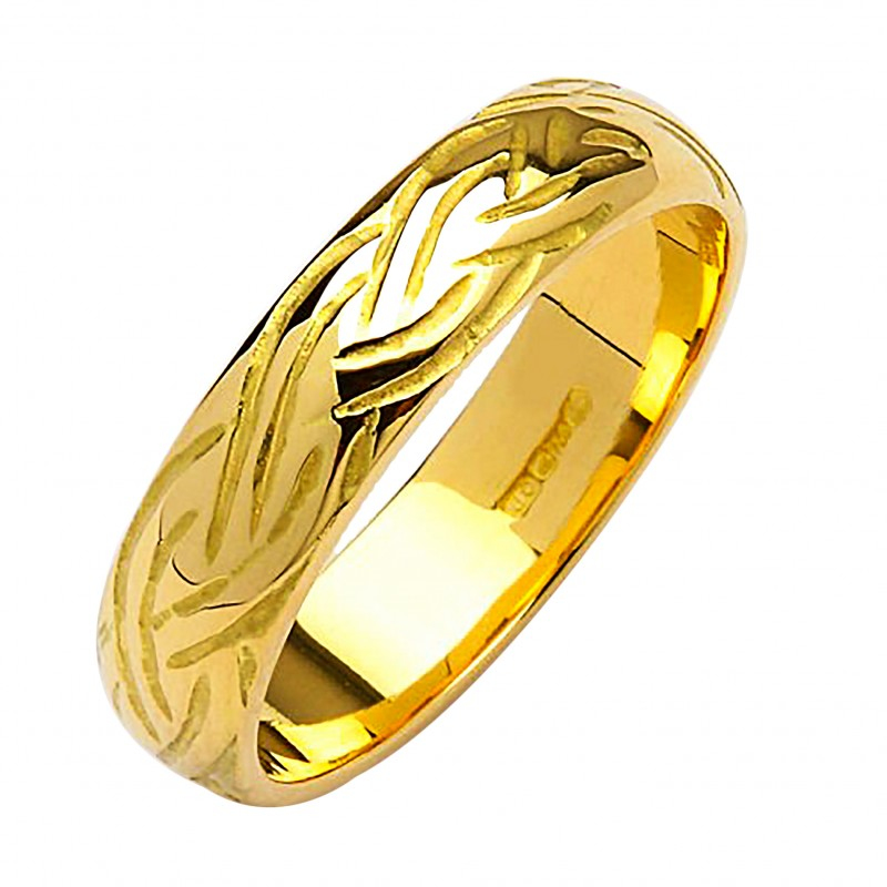 Irish Gold Wedding Ring Livia 18k Celtic Rings
